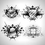 heraldic средневековые экраны Стоковое фото RF