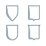 Heraldic формы экрана Стоковые Фотографии RF