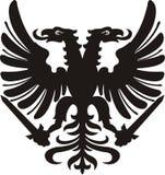 Heraldic черная/белая татуировка орла силуэта бесплатная иллюстрация