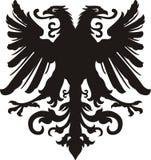 Heraldic черная/белая татуировка орла силуэта иллюстрация штока