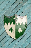 Heraldic экран рыцарей Стоковое Изображение