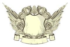 heraldic экран иллюстрация вектора