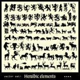 Heraldic элементы различные Стоковые Фотографии RF