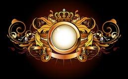 heraldic рамки золотистое Стоковые Изображения RF