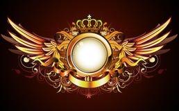 heraldic рамки золотистое Стоковые Фотографии RF