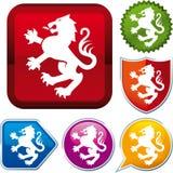 Heraldic икона льва Стоковое Изображение