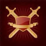 Heraldic. Vector heraldic pattern on dark red background Stock Photography