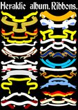 Heraldic album. Ribbons. (Vector)  Page 1 Royalty Free Stock Images