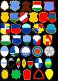Heraldic album. Shields. (Vector)  Page 4 Royalty Free Stock Photography
