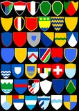 Heraldic album. Shields. (Vector)  Page 2 Stock Photography
