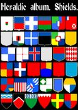 Heraldic album. Shields. (Vector)  Page 1 Royalty Free Stock Photo