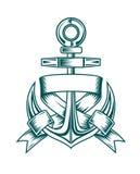 Heraldic anchor with ribbons Royalty Free Stock Photos