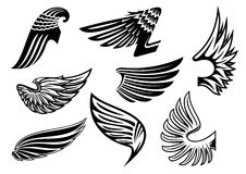 Heraldic angel black and white wings Royalty Free Stock Photography