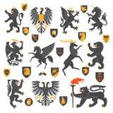 Heraldic Animals And Elements Royalty Free Stock Photos