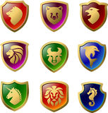 Heraldic animals Royalty Free Stock Photos