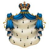 Royal ermine mantle Royalty Free Stock Images