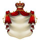 Royal ermine mantle Stock Photography