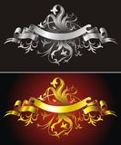 Heraldic backgrounds Stock Photography