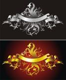Heraldic backgrounds Stock Photography
