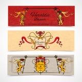 Heraldic banners set Royalty Free Stock Photo