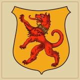 Heraldic beast on shield Royalty Free Stock Image