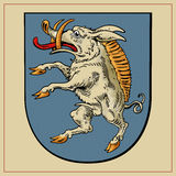 Heraldic beast on shield Stock Images