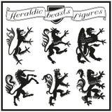 Heraldic beasts figures Royalty Free Stock Image