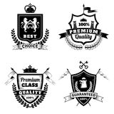 Heraldic Best Choice Emblems Set Stock Photography