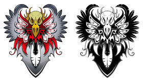 Heraldic bird Royalty Free Stock Images