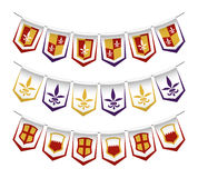 Heraldic bunting flags Royalty Free Stock Image