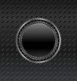 Heraldic circle shield on titanium background Royalty Free Stock Image