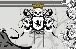 Heraldic coat of arms backgroundv4. Heraldic coat of arms background in format very easy to edit stock illustration