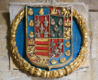 Heraldic Coat of Arms in the Cathedral of Salamanca Royalty Free Stock Photo