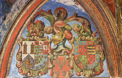 Heraldic Coat of Arms in the Cathedral of Salamanca Royalty Free Stock Image