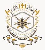 Heraldic Coat of Arms decorative emblem Stock Photos