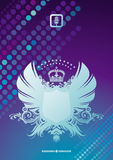 Heraldic coat of arms on a glittering background Stock Images