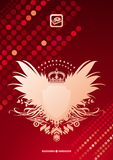 Heraldic coat of arms on glittering background Royalty Free Stock Photos