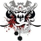 Heraldic coat of arms ornament 1. Heraldic coat of arms ornament in format stock illustration