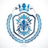 Heraldic Coat of Arms, vintage vector emblem. Royalty Free Stock Photo
