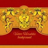 Heraldic colored background Stock Photos