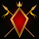 Heraldic composition. Royalty Free Stock Photo