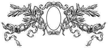 Heraldic crest Stock Image