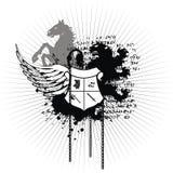 Heraldic crest coat of arms tattoo 3 Stock Photos