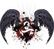 Heraldic crest coat of arms tattoo 4 Stock Image