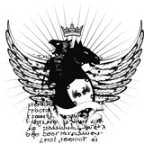 Heraldic crest coat of arms tattoo 6 Stock Image