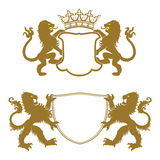 Heraldic Crests Silhouettes Stock Image