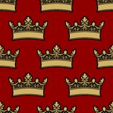 Heraldic crown seamless pattern Royalty Free Stock Photo