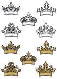 Heraldic crowns Stock Image