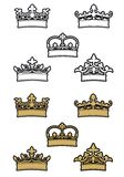 Heraldic crowns Royalty Free Stock Images