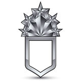 Heraldic 3d glossy icon for use in web and graphic design, penta Royalty Free Stock Photography